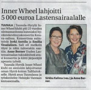 Keski-Uusimaa lehdessä 28.10.2014