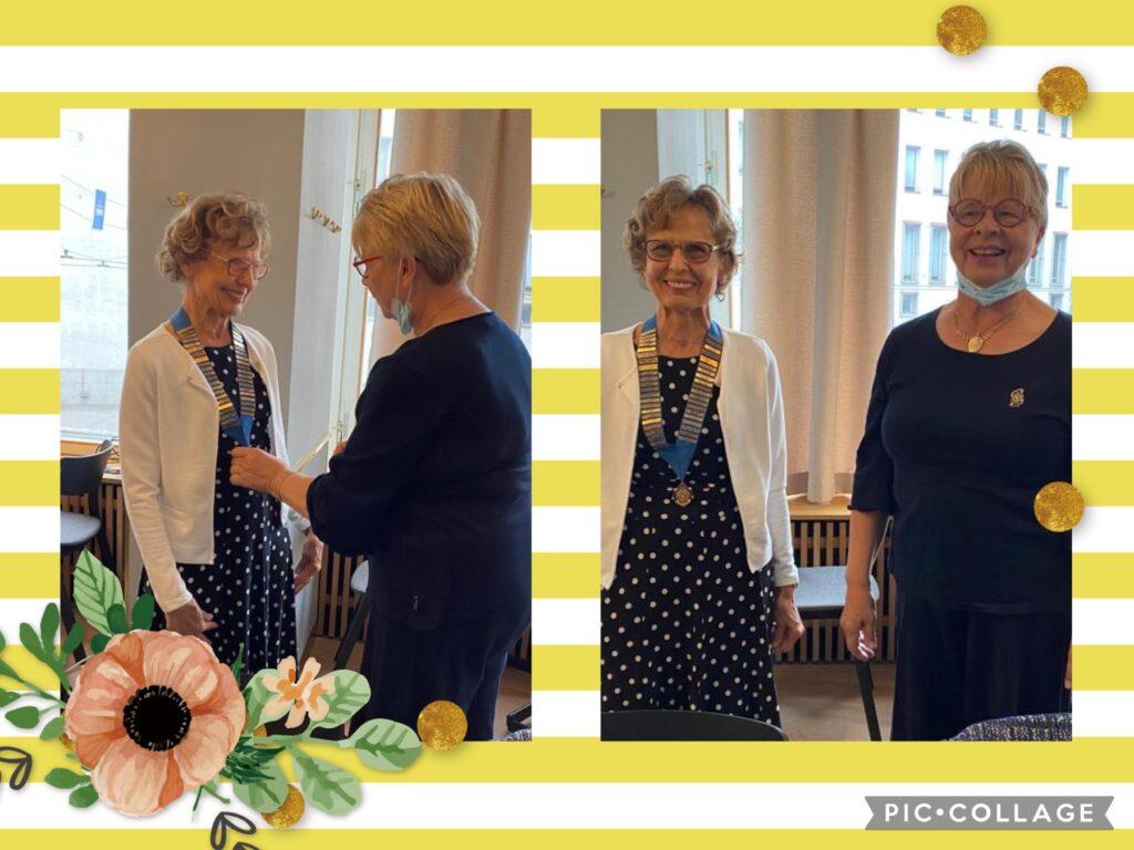 Vasemalla Tuula Karhumäki ja oikealla Pirjo Hakala-Lahtinen